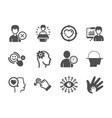 Set people icons such as engineering romantic