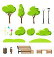 set to create beautiful summer or spring city park vector image