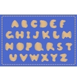 sewing alphabet vector image vector image