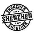 shenzhen black round grunge stamp vector image vector image