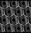 silver hexagonal optical illusion vector image vector image