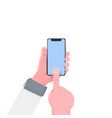 smartphone hand modern flat vector image