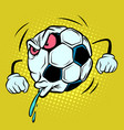 spitting fan reaction football soccer ball vector image