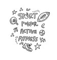 Sport and fitness doodle