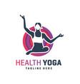 sports yoga training logo vector image vector image