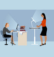 standing desk advantages vector image