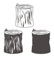 Stump silhouettes set vector image vector image