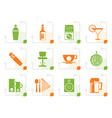 stylized night club bar and drink icons vector image vector image