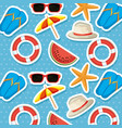 summer holidays set icons pattern vector image