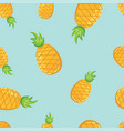 tropical fruit pineapples pattern vector image vector image
