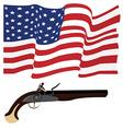 Usa flag and musket vector image