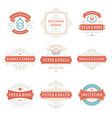 wedding labels and badges and design vector image