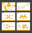 Yellow presentation templates Infographic elements vector image vector image