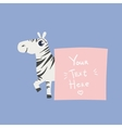 Zebra With The Template For The Message vector image vector image