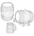 a barrel mug isolated on white