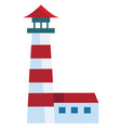a lighthouse with bright spotlight or color vector image vector image