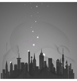 Abstract city with stars vector image vector image