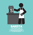 Barista Working With Espresso Machine vector image