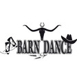 barn dance banner vector image vector image