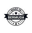 bermuda stamp design vector image