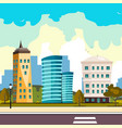 buildings city flat cartoon style modern vector image
