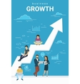 Business growth concept of people vector image vector image