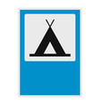 camping icon flat style vector image vector image