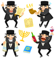 cartoon rabbis vector image