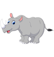 Cartoon rhino for you design vector image vector image