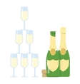 Champagne pyramid tower vector image