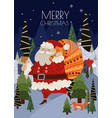 christmas cards with simple cute vector image vector image