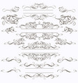 collection frames in elegant style vector image
