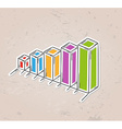 color sketch of the bar chart vector image vector image
