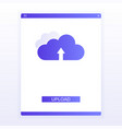 concept website page upload to cloud vector image