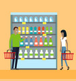 consumers choice concept in flat design vector image vector image