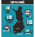 Creative geographic map of Finland vector image