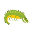 Crocodile Laying On The Side Flat Cartoon Green vector image vector image