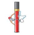 cupid lip gloss in the cartoon shape vector image