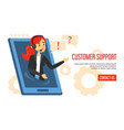 customer service web banner design isolated vector image vector image