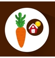 farm countryside food carrot design vector image vector image