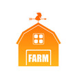 farm house in orange vector image vector image