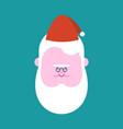 fat santa claus face head vector image