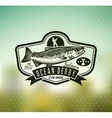 Fishing Logo Salmon Fish icon vector image vector image