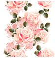 floral seamless wallpaper pattern with roses vector image vector image