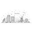 florida linear banner orlando city vector image vector image