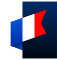 france corner flag icon national emblem vector image vector image