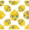 Funny and cute lemon cartoon mascot character