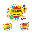 Funny and happy party logo modern holiday