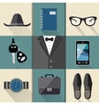 Gentleman business suit set vector image vector image