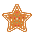 Gingerbread Star vector image vector image